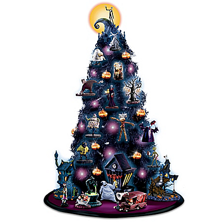 Nightmare Before Christmas Lights Up Tabletop Tree Collection With Free Gift