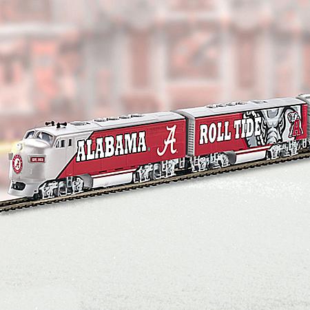 HO-Scale University Of Alabama Illuminated Electric Train