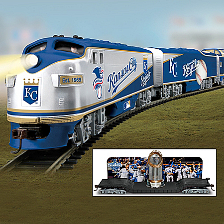 Kansas City Royals World Series Champions Electric Train Collection