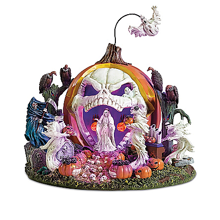 Haunted Pumpkin Handcrafted Light Up Sculpture Collection