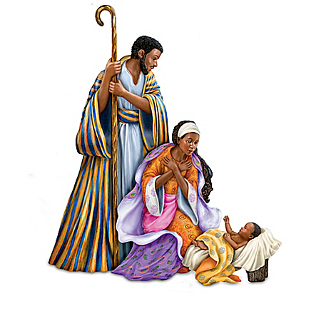 Keith Mallett Lord's Blessings Nativity Collection