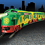 Hawthorne Village Teenage Mutant Ninja Turtles Express Train Collection