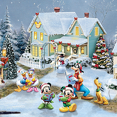 Disney Cozy Christmas Thomas Kinkade Village Collection