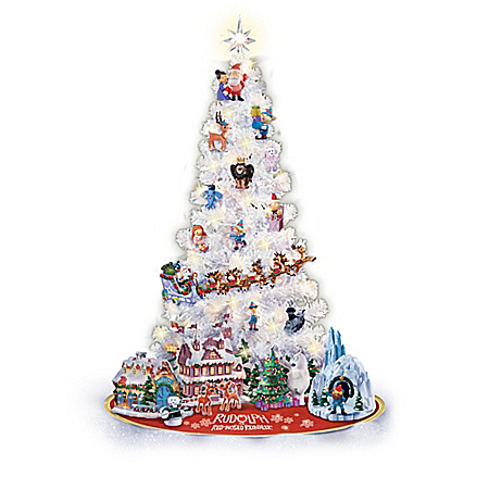 Rudolph Christmas Tree Collection With Lights And Ornaments: Bradford Exchange
