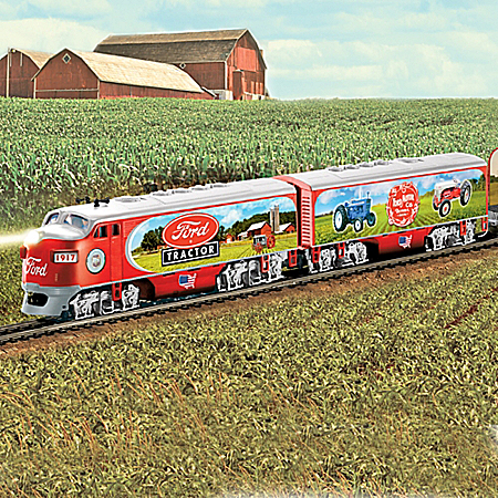 Ford Classic Tractors Illuminated Express Train Collection
