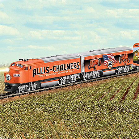 Allis-Chalmers Tractors Express Diesel Locomotive Train Collection