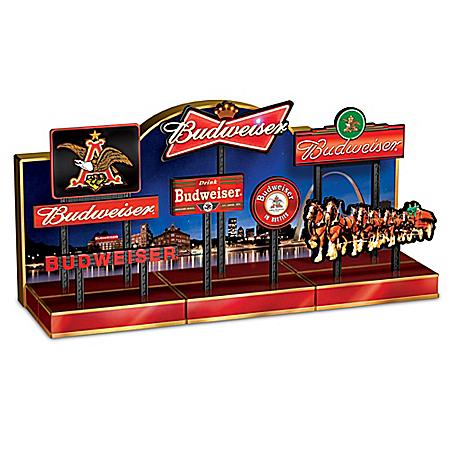 Budweiser Illuminated Signs Sculpture Collection