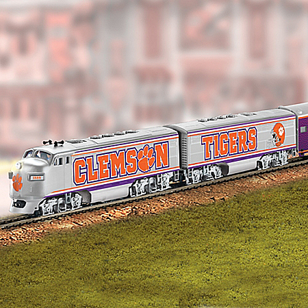 Clemson Tigers Express Train Collection With Power Pack And Track Set