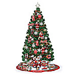 COCA-COLA Refreshing Your Holidays Heirloom Blown Glass Illuminated Christmas Tree Collection