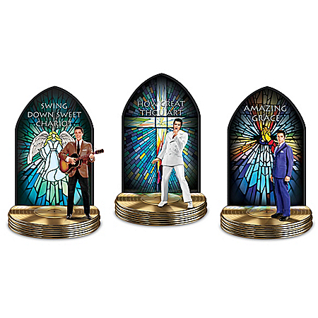 Elvis Presley: The Gospel Truth Illuminated Gospel Music Sculpture Collection