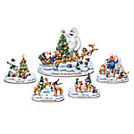 Rudolph's Christmas Town Illuminated Musical Sculptural Figurine Collection