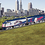 Hawthorne Village Cleveland Indians MLB Express Illuminated Electric Train Collection