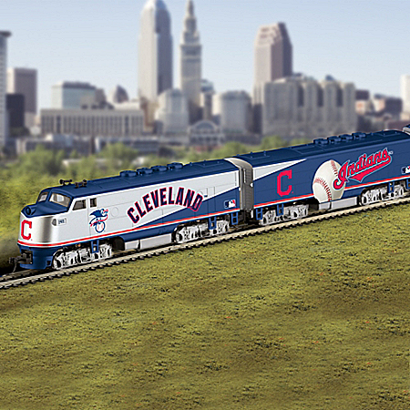 Cleveland Indians MLB Express Illuminated Electric Train Collection