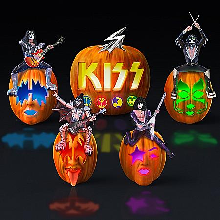 KISS Rocks Your Halloween! Jack-O'-Lantern Sculpture Collection