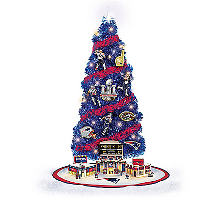 New England Patriots NFL Tabletop Christmas Tree Collection