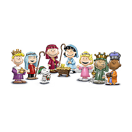 The PEANUTS Christmas Pageant Heirloom Porcelain Figurine Collection