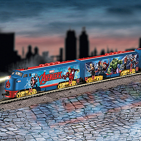 MARVEL The Avengers HO-Scale Express Electric Train Collection 918056