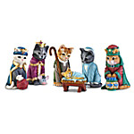 The PURR-fect Christmas Pageant Nativity Cat Figurine Collection