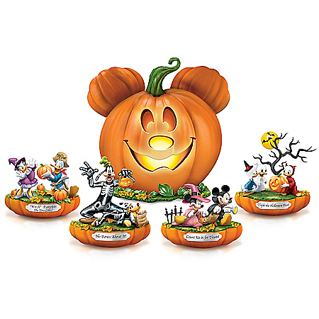 Disney Mickey Mouse & Friends Spooktacular Fully-Sculpted Illuminated Halloween Figurine Collection