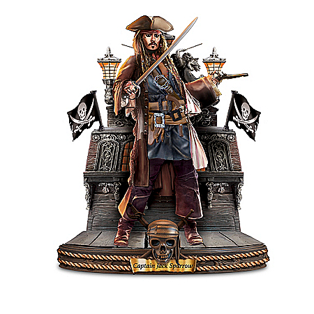 Disney Pirates of the Caribbean Captains Handcrafted Sculpture Collection