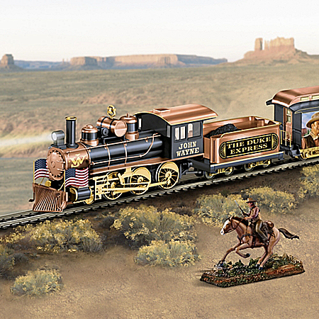 The Duke Express Illuminated Electric Train With Sculpture