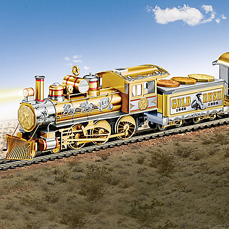 Gold Rush Express Illuminated Electric Train Collection With Track Set