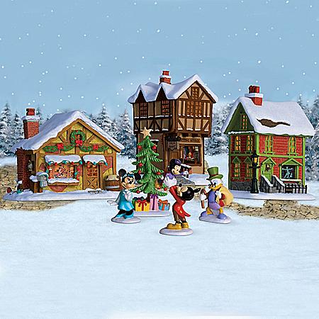 Disney Mickey Mouse's Christmas Carol Illuminated Village Collection