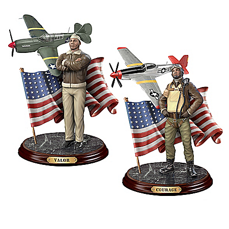 Defenders Of Freedom Hand-Painted Tuskegee Airmen Sculpture Collection