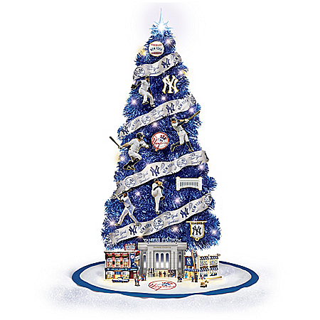 New York Yankees MLB Illuminated Christmas Tree Collection