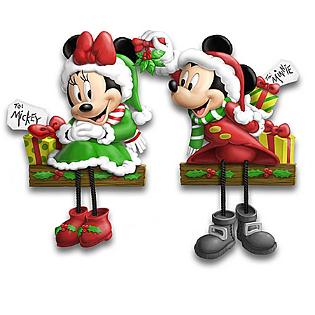 Disney Mickey Mouse & Friends Christmas Shelf Sitters