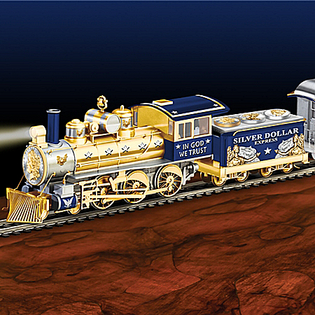 Silver Dollar Express Illuminated Electric Train Collection