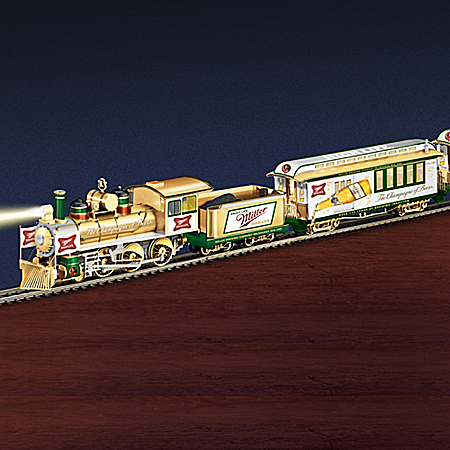 Miller High Life Express Electric Train Collection With Track Set
