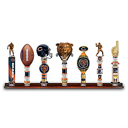 Chicago Bears NFL Vintage-Style Heirloom Beer Tap Handle Collection