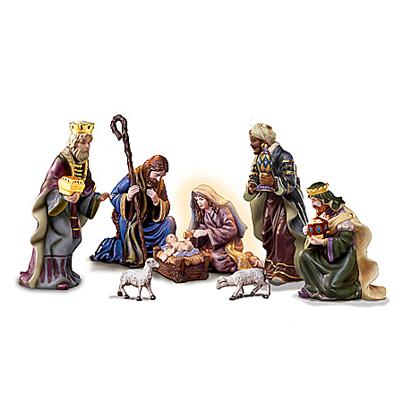 Thomas Kinkade O' Holy Night Porcelain Nativity Collection