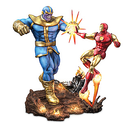 MARVEL Avengers Ultimate Battles Illuminated Sculpture Collection