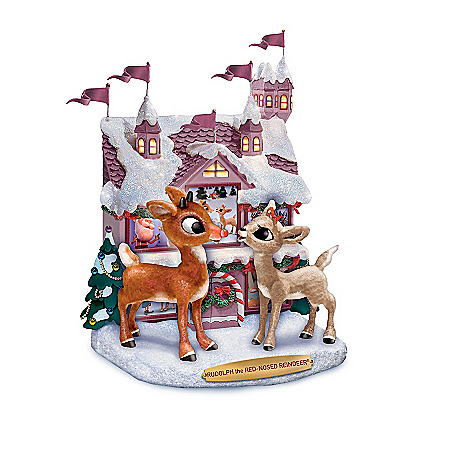 Rudolph The Red-Nosed Reindeer Winter Wonderland Sculpture Collection