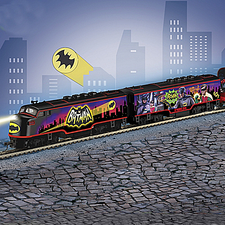 CAPED CRUSADERS Illuminated Electric Train Collection