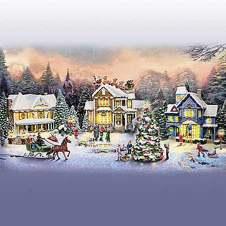 Thomas Kinkade Holiday Village Collection: Lights And Music
