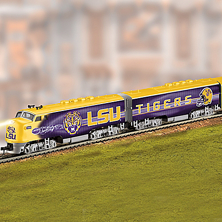 LSU Tigers Express Train Collection With Power Pack And Track Set