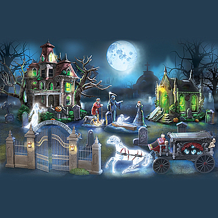 Haunted Dreadfield Cemetery Village Collection With Lights
