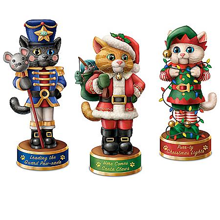 A Meowwy Little Christmas Nutcracker Sculpture Collection