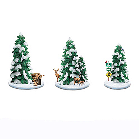 Seasonal Splendor Sculpted Tree Accessory Collection
