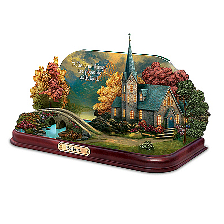 Thomas Kinkade Lighted Chapels Tabletop Sculpture Collection