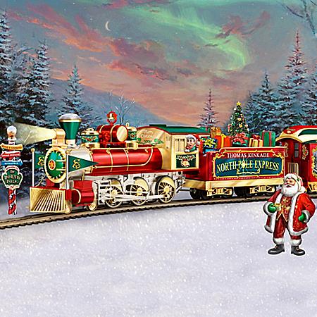 Thomas Kinkade Illuminated Electric Holiday Train Collection