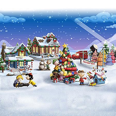PEANUTS Illuminated Christmas Village Collection