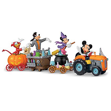 Disney Halloween Tractor Wagon Sculpture Collection