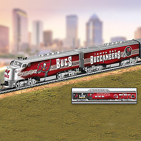 Buccaneers Train Collection With Super Bowl LV Champions Car
