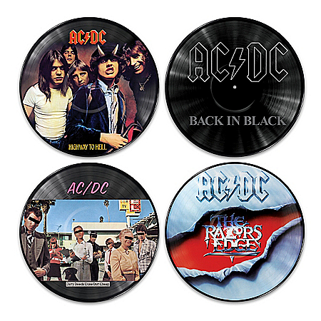AC/DC Vinyl Revolution Record Wall Decor Collection from The Bradford Exchange Online Product Image