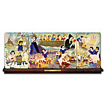 Disney Snow White And The Seven Dwarfs Panorama Collector Plate Collection