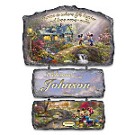 Disney's Seasons Of Joy By Thomas Kinkade Personalized Welcome Sign Collection